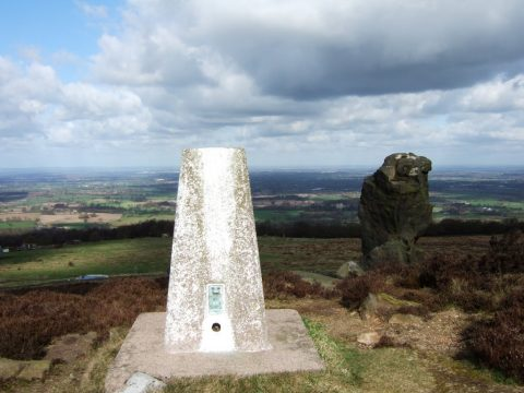 Photo of trig point Mow Cop